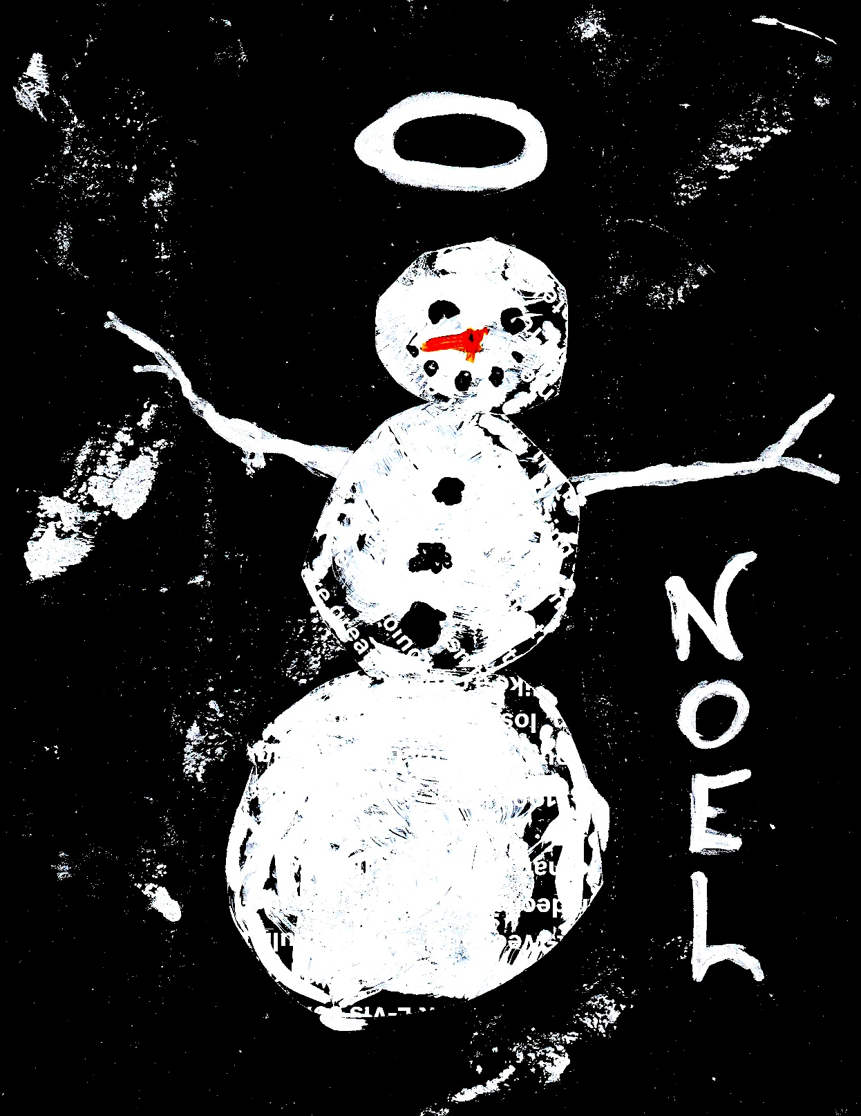 Self Portrait As A Snowman by Jeffrey Cyphers Wright