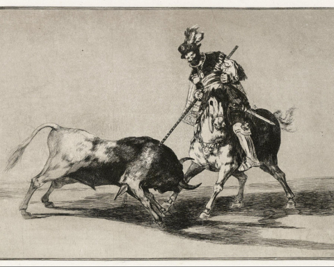 Francisco_de_Goya_-_The_Cid_Campeador_Attacking_a_Bull_with_His_Lance_-_Google_Art_Project