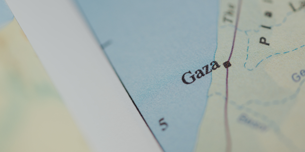 A map of Gaza.